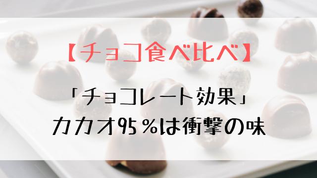 「チョコレート効果」カカオ95%を食べてみた