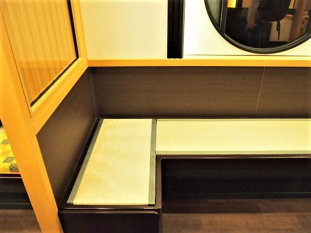 京とれいん雅洛には畳の座席がある