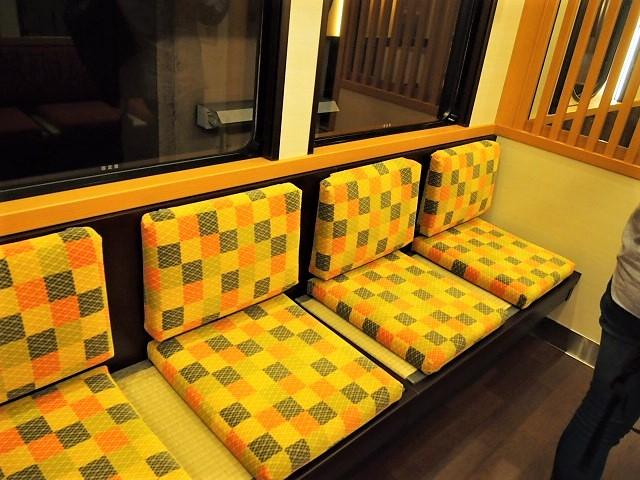 京とれいん雅洛の座席は車両によって違う