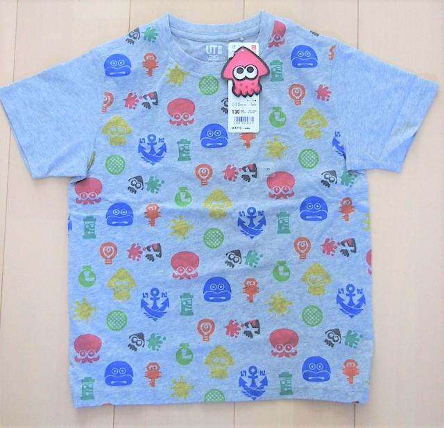 ユニクロスプラトゥーン2グラフィックTシャツグレー