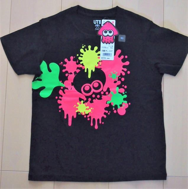 ユニクロスプラトゥーン2グラフィックTシャツキッズ黒