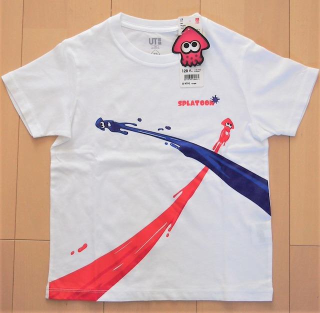 ユニクロスプラトゥーン2グラフィックTシャツ白