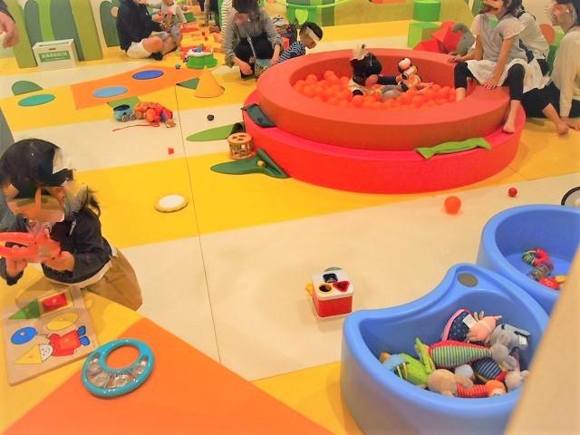 ベビースペースなら赤ちゃん~1・2歳の子も安心して遊べる