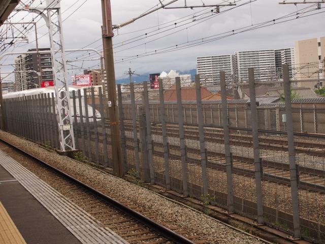 阪急上牧駅から見る新幹線はめちゃくちゃ速い