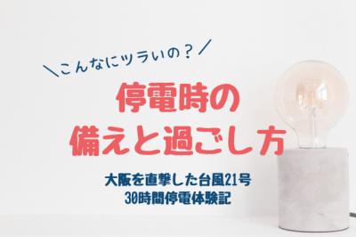 停電時の備えと過ごし方・大阪を直撃した台風21号の体験談