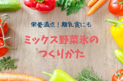 離乳食にも使える!あさイチで紹介されたミックス野菜氷の作り方